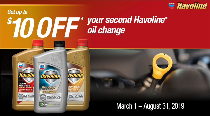 Havoline Coupons & Promotions | Chevron Lubricants (US)