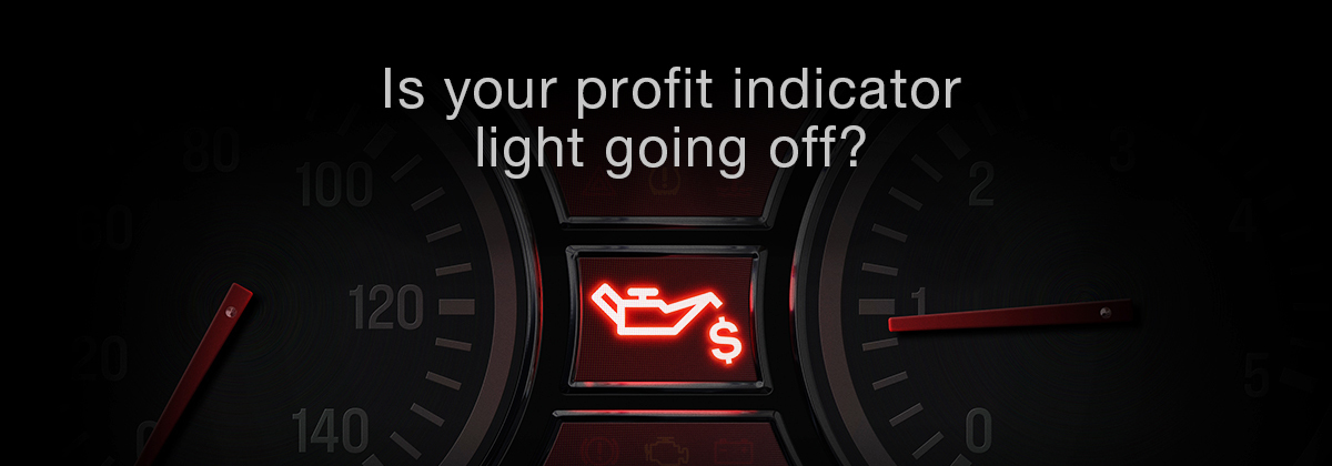 Oil indicator light on dashboard