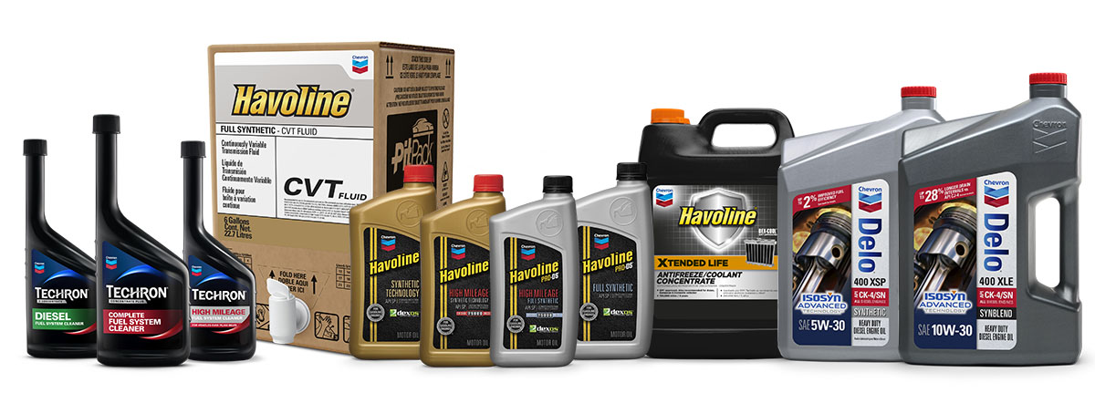 Chevron family of products for your oil change business