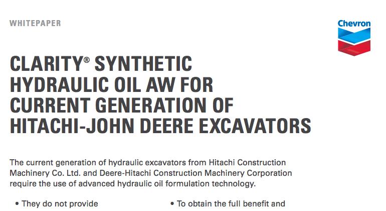 Clarity Synthetic Hydraulic Oil AW   Chevron Lubricants (US)